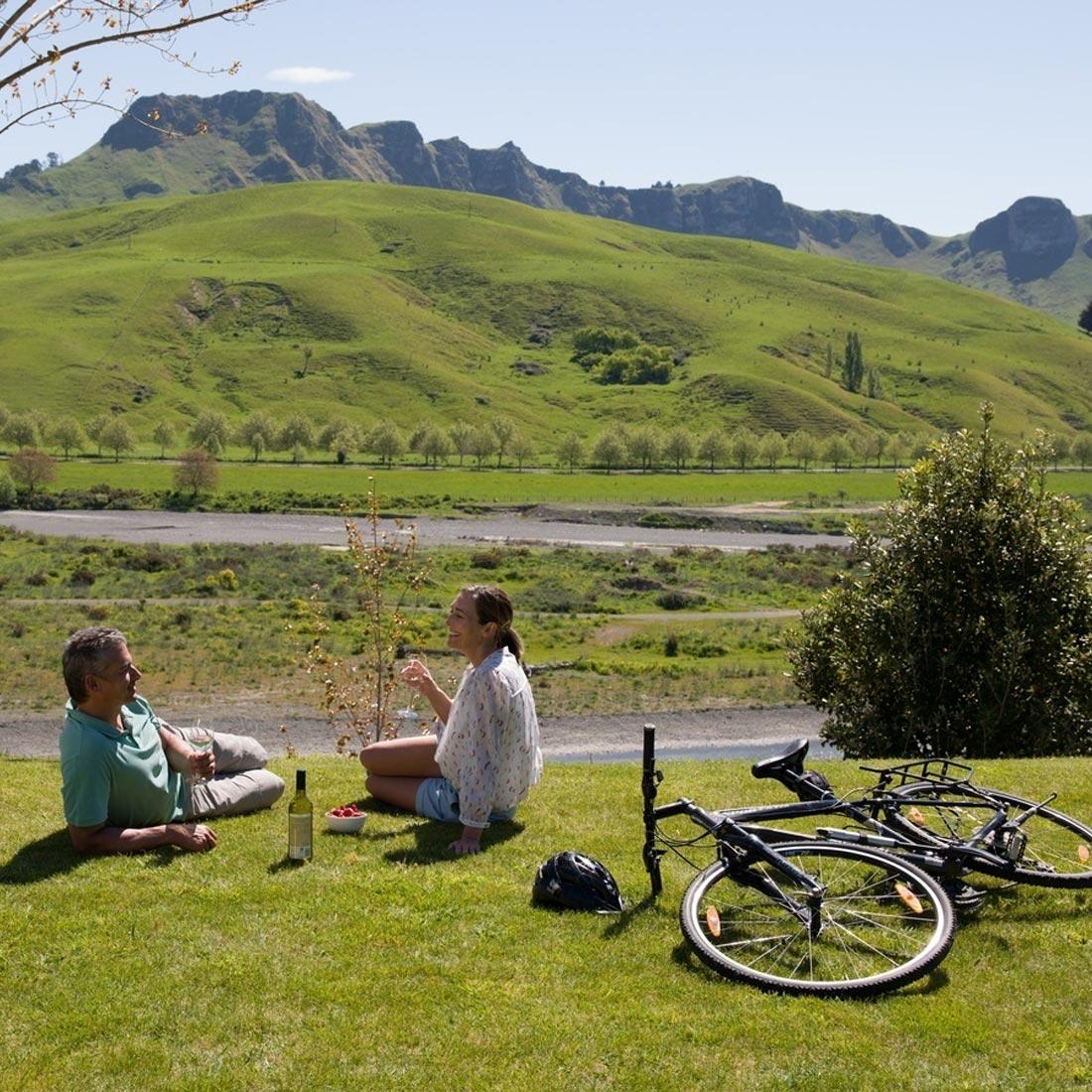 boutique accommodation napier te mata peak river picnic
